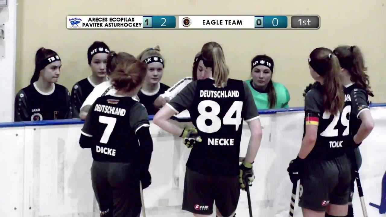VIDEOS - 20/12/2019 - OKU17F - Match #11 - Areces Ecopilas Pavitek Asturhockey (SP) x Eagle Team (DE)