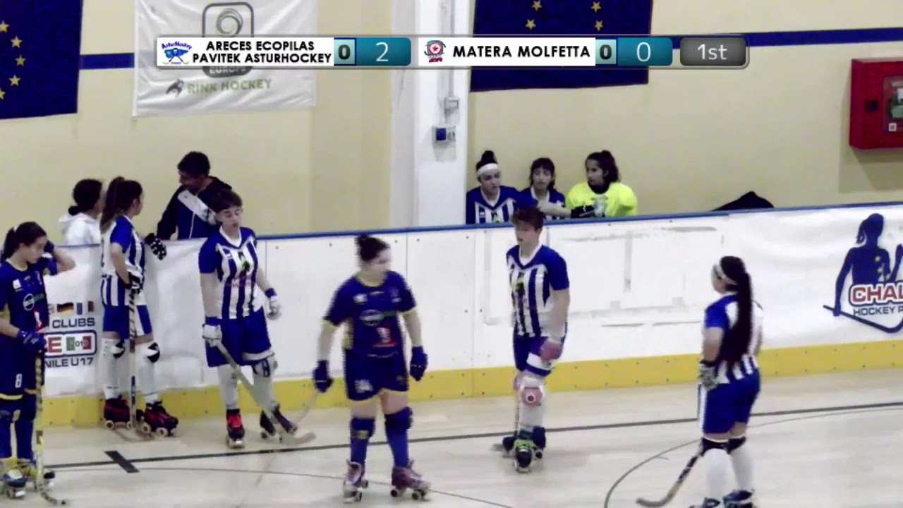 VIDEOS - 21/12/2019 - OKU17F - Match #17 - Areces Ecopilas Pavitek Asturhockey (SP) x Matera Molfetta (IT)