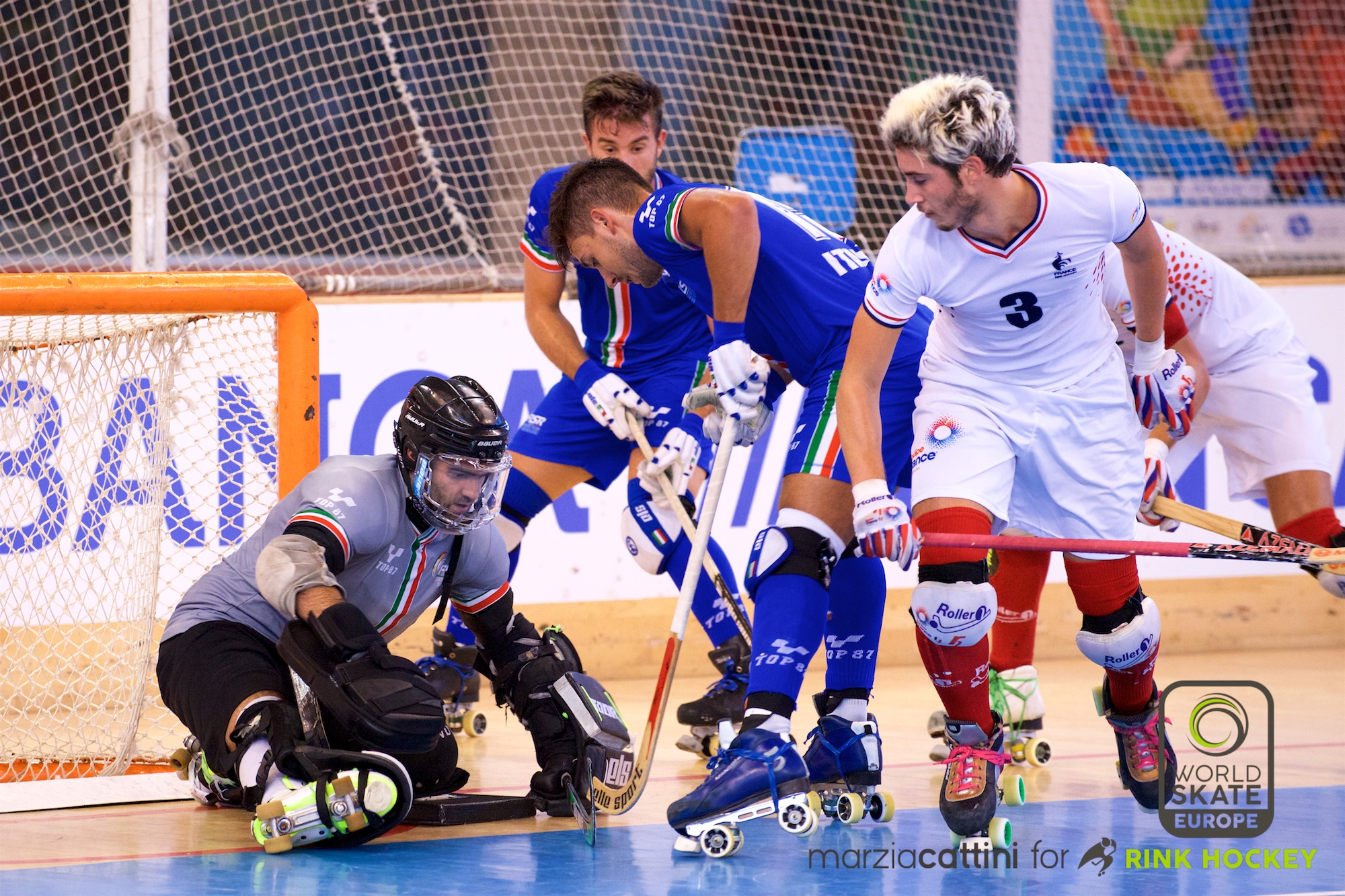 PHOTOS – 22/07/2018 - EUROHOCKEY CORUNA 2018 - Match #39 - France x Italy – Photos by Marzia Cattini